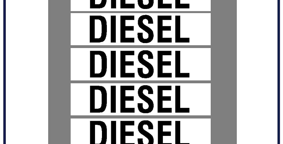5x Diesel Lettering Kit 25mm  DVSA APPROVED