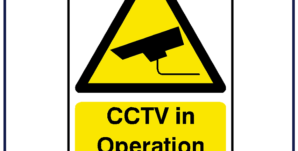 CCTV in Operation 100mm X 75mm - Pack of 5