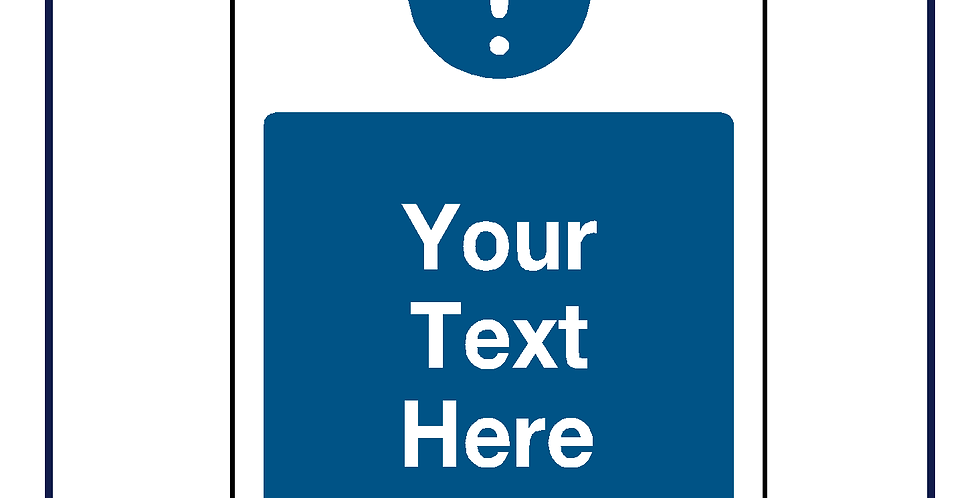 Blue information - create your own graphic