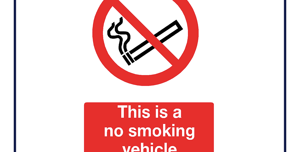 10x This is a No smoking vehicle(double sided)