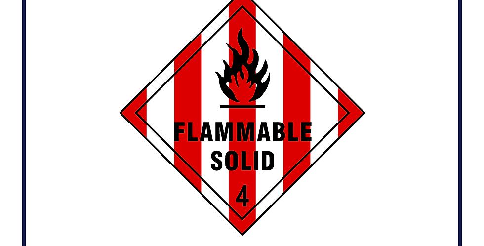 Dangerous substances -flammable solid