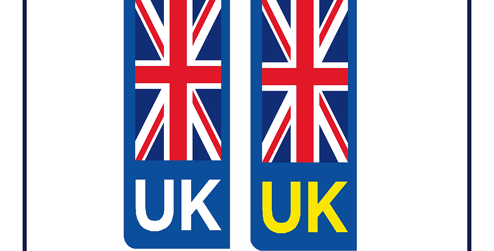New! Twin pack UK compliant vehicle number plate stickers