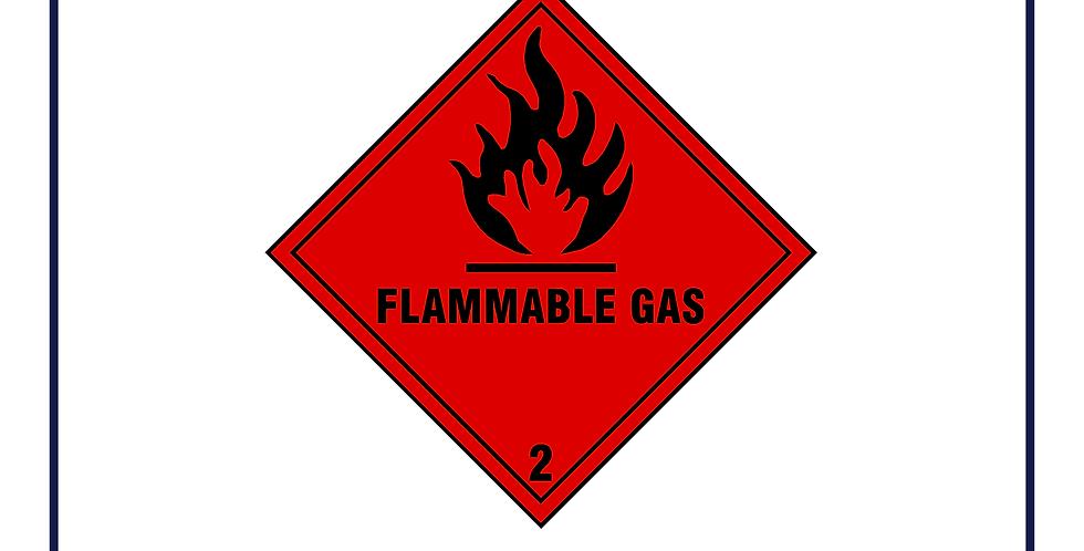 Dangerous substances -flammable gas