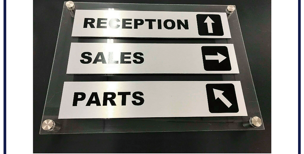 Corporate Stand Off Sign Department Direction Acrylic Choice of Tiers