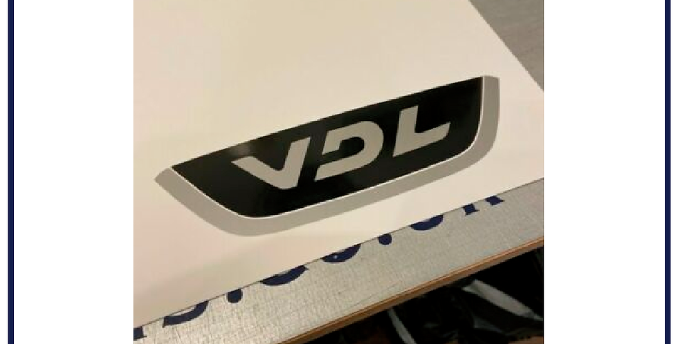 2x VDL 2 Colour Self Adhesive Graphics for Exterior Use Bus Coach PSV