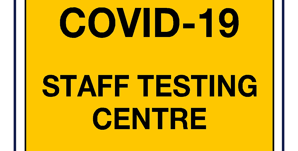 Covid-19 testing - staff testing centre