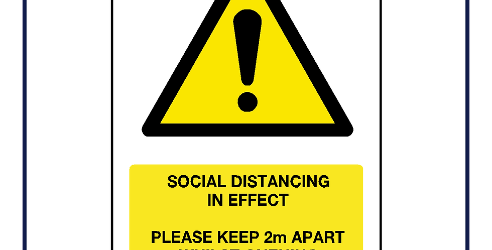 Please keep 2m apart whilst queuing