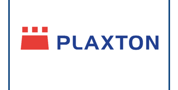 Plaxton Coach Bus New Style Logo Decal Sticker 340mm X 57mm Two Colour