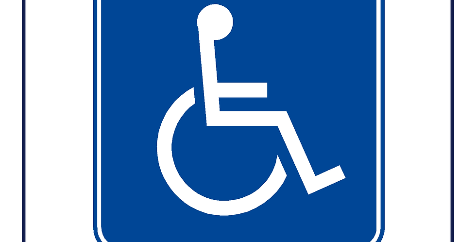 10x Square 150mm DVSA APPROVED Wheelchair Sign for Bus Coach Taxi Minibus