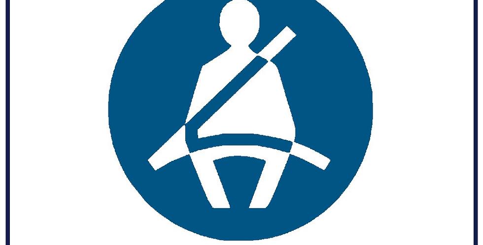 50x Seat Belt Use Notice 60mm Self Adhesive us Coach Taxi Van