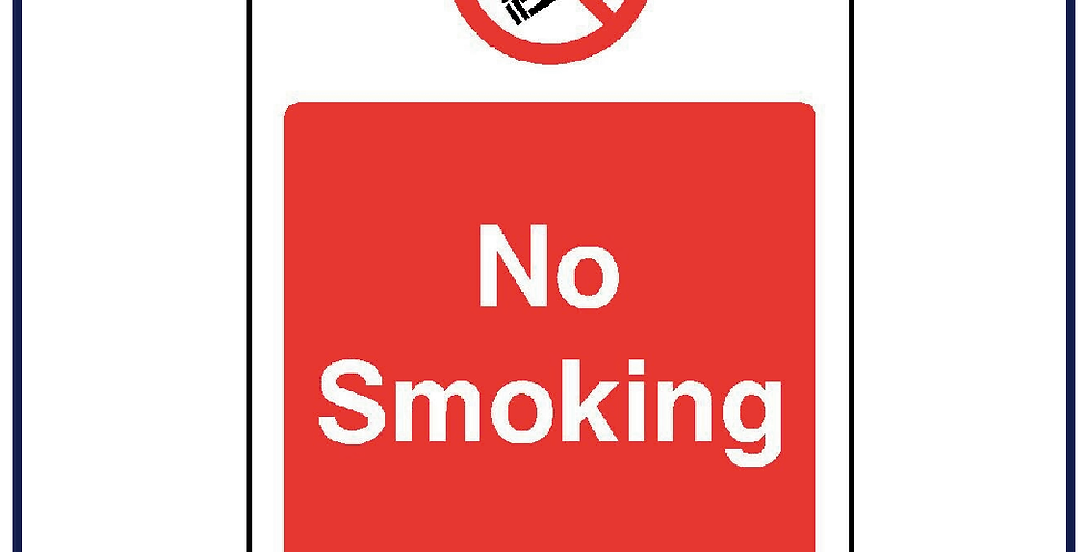 No Smoking Warning Sticker Health Safety Graphic 100mm X 75mm - Pack of 5