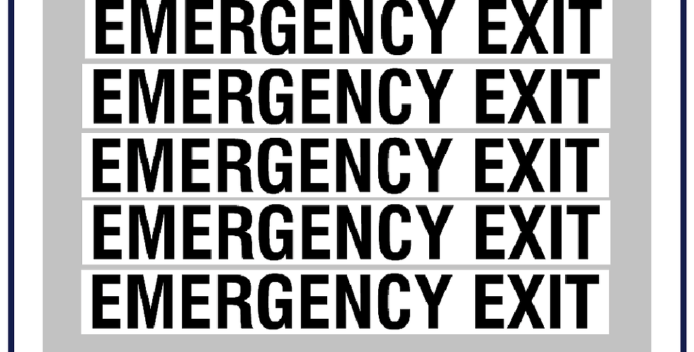 Emergency Exit Legal Lettering Kit DVSA APPROVED