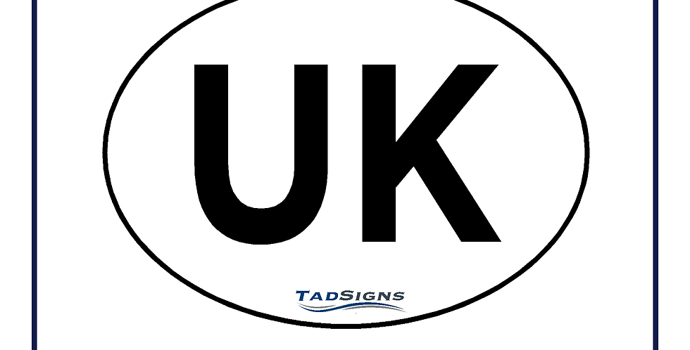 New! Twin pack UK compliant vehicle sticker for car van 180mm x 133mm
