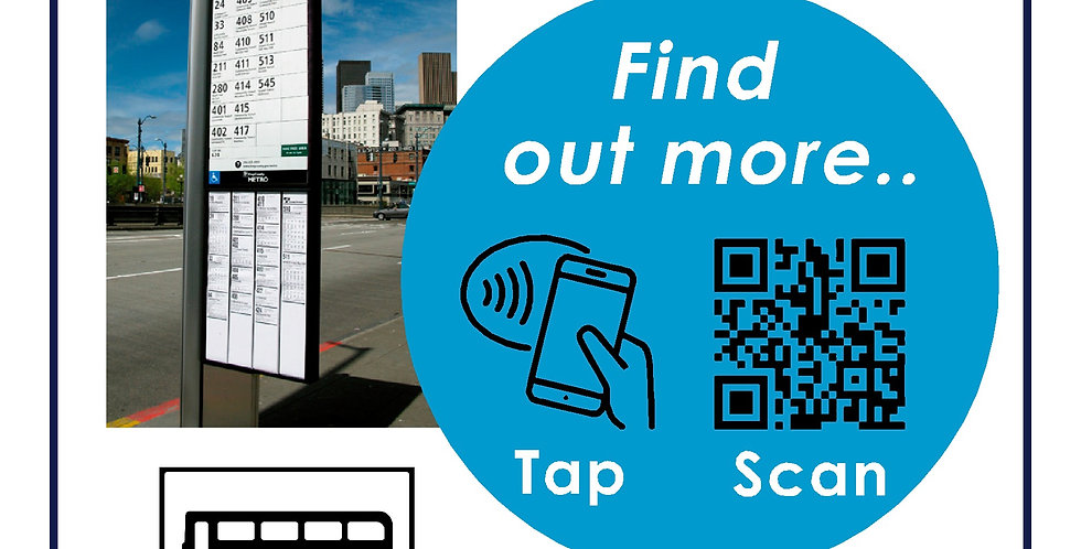 NFC Enabled Bus Stop Signage