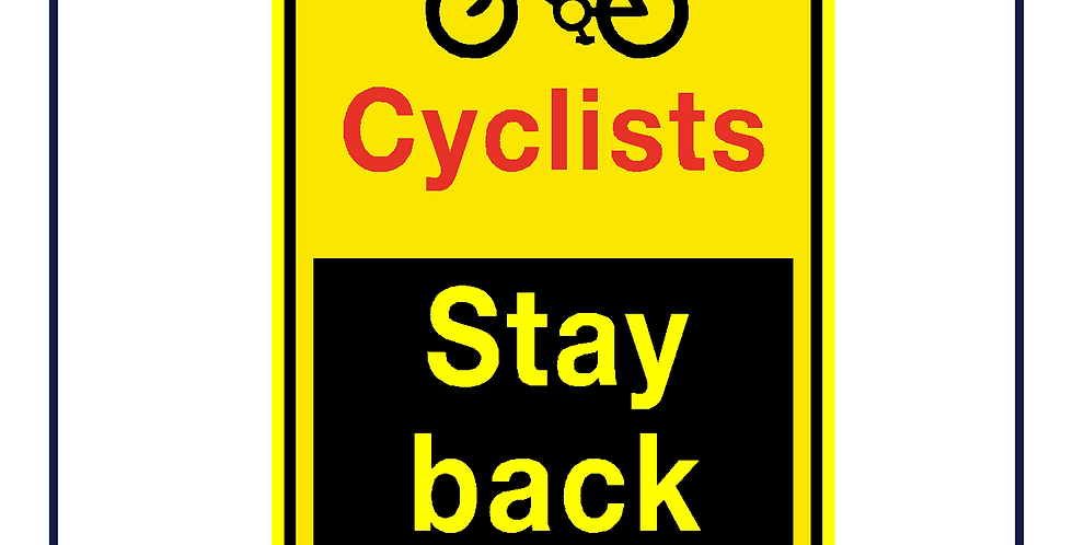 DVS compliant - Cyclists stay back