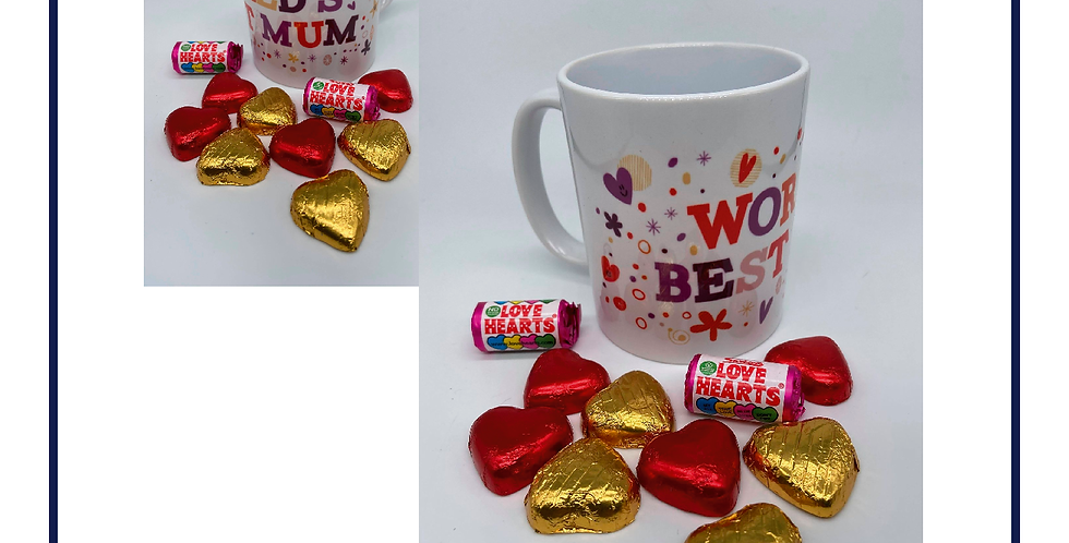 Worlds Best Mum Mothers Day Mug with Chocolates with gift box