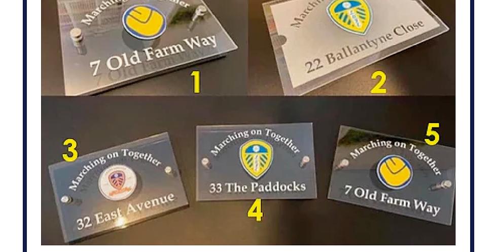 Leeds United House Sign