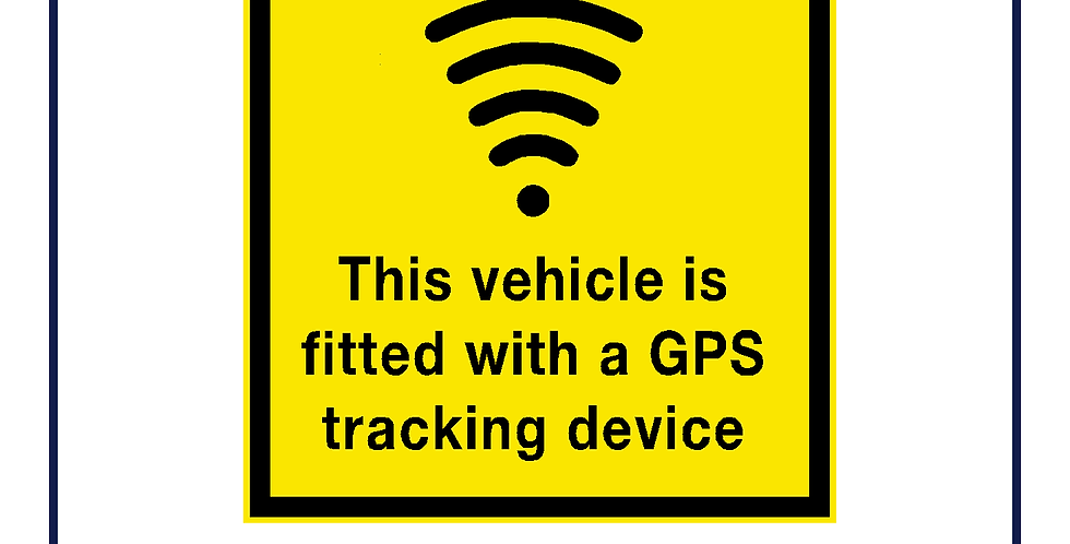 This vehicle is fitted with a GPS tracking device