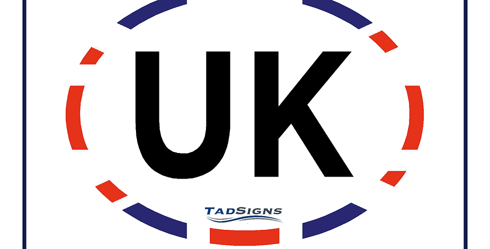 New! Twin pack UK compliant commercial vehicle sticker for coach bus hgv
