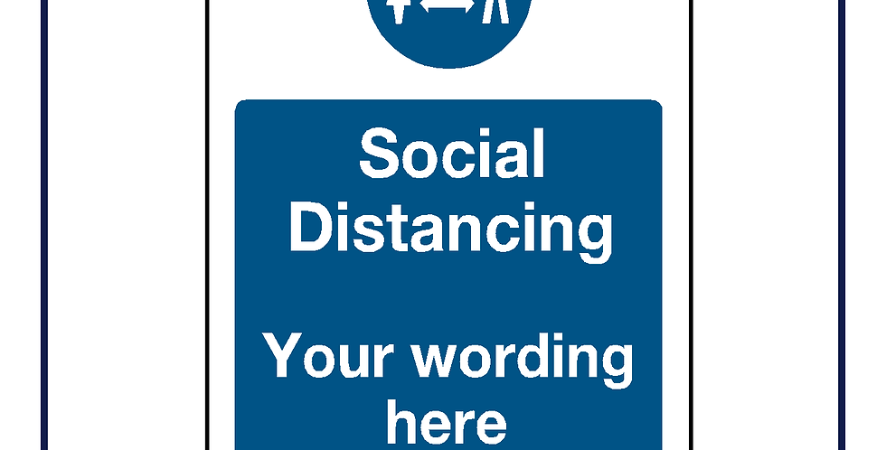 Social distancing - create your own graphic