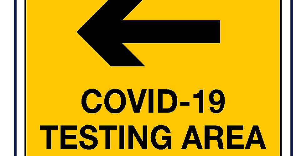 Covid-19 testing -testing area left arrow