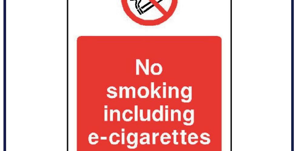 No smoking including e-cigarettes