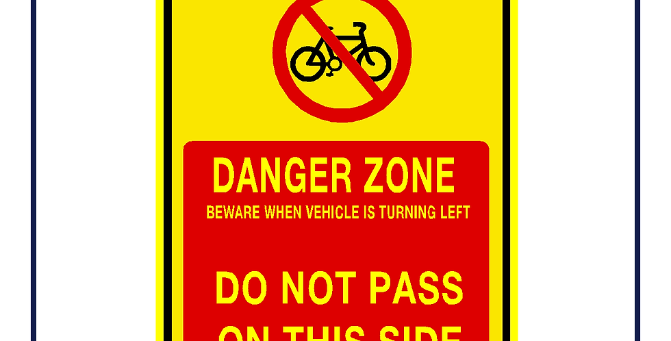 DVS compliant - Cyclists do not pass on this side portrait