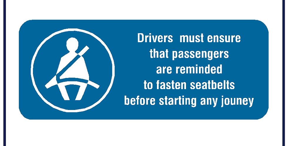 Drivers Seatbelt Reminder - Pack of 5