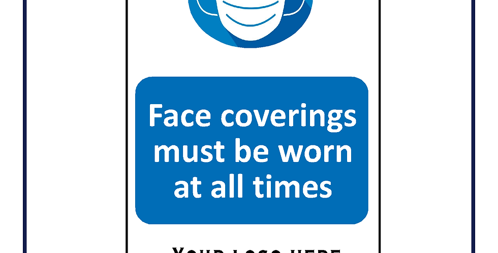 Face coverings your logo or name