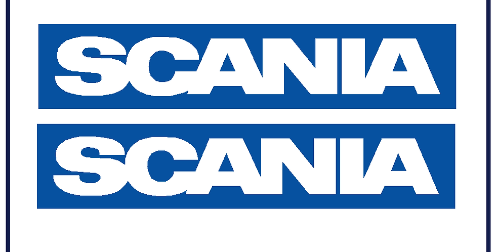 Scania Badge Bus Coach Truck HGV 280mm X 60mm Colour Choice Pack of 2