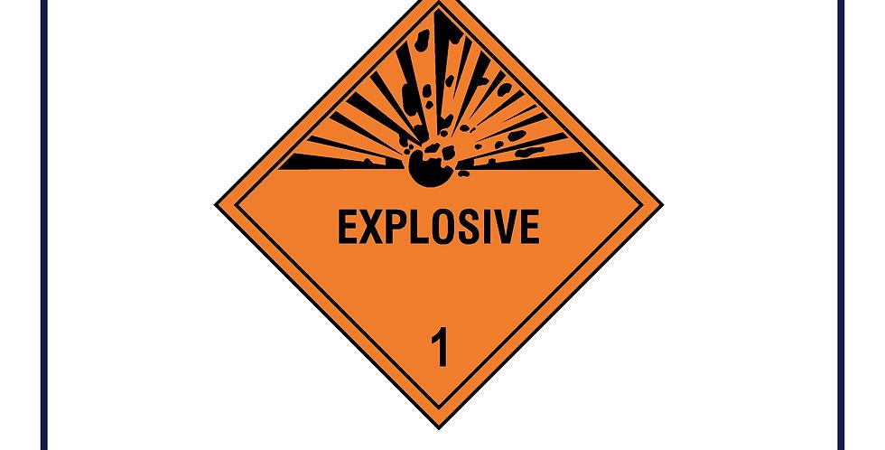 Dangerous substances - explosive