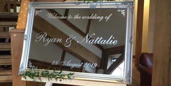 Personalised Wedding Reception Mirrors