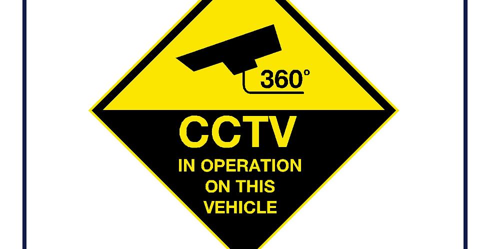 CCTV 360 degrees sign