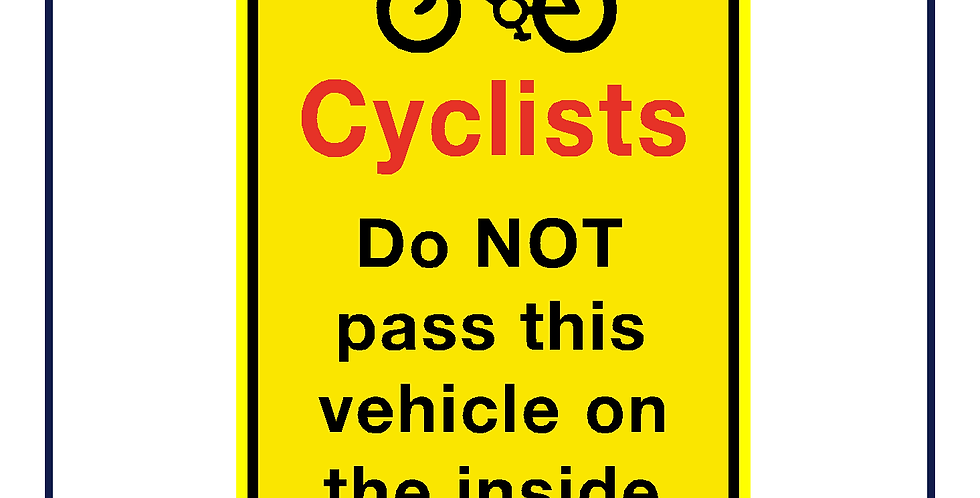 DVS compliant - Cyclists do not pass on the inside