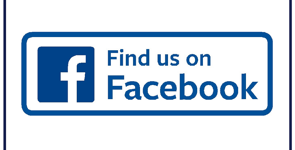 FIND US ON FACEBOOK Sticker Decal 245mm X 85mm Self Adhesive