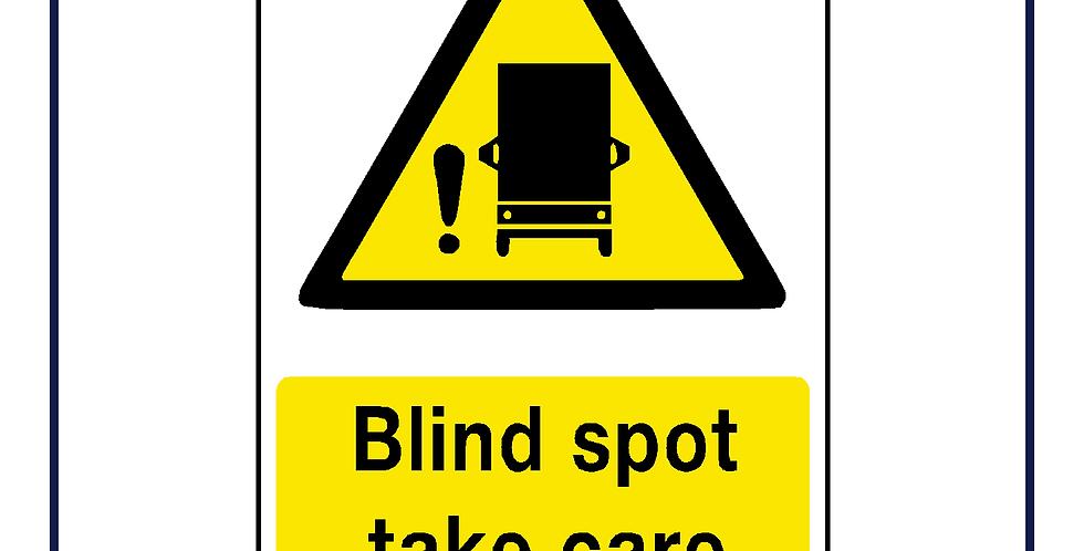 DVS compliant - HGV blind spot warning- portrait