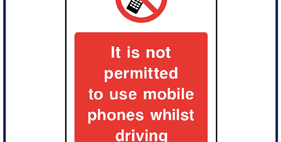 Mobile phone use not permitted whilst driving