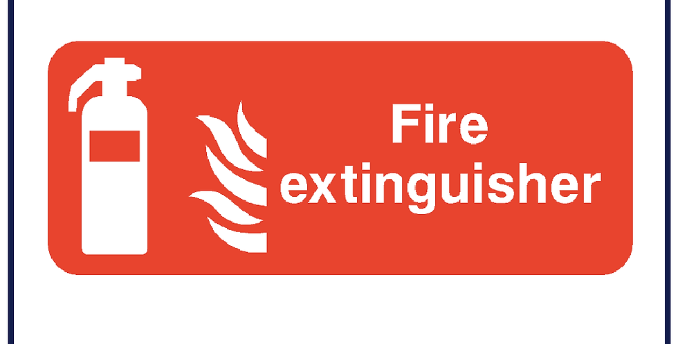 Fire Extinguisher Sticker - Pack of 5
