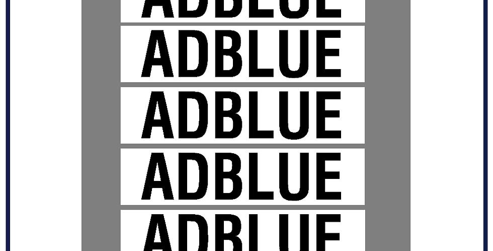 Adblue Legal Lettering Kit DVSA APPROVED - Pack of 5