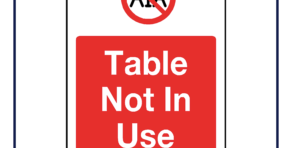 Table not in use