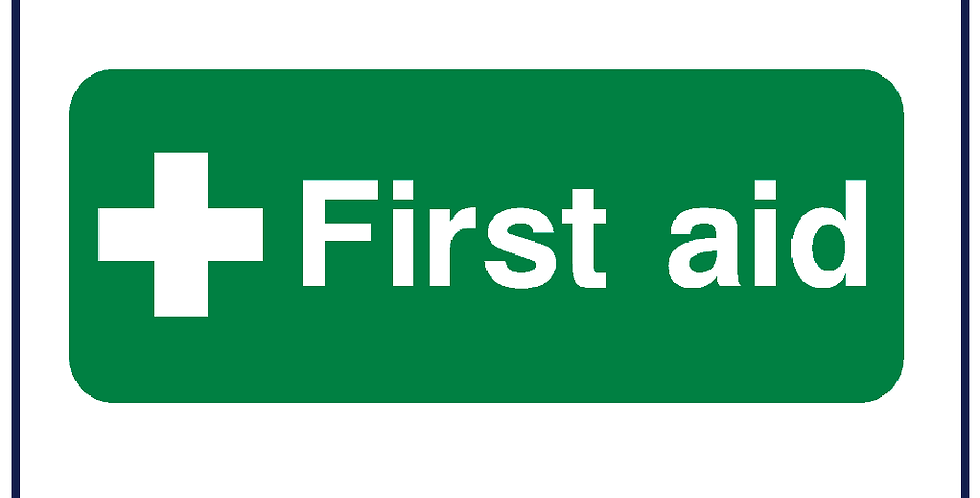 First Aid Location Sticker