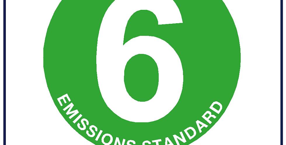5x Euro 6 Badge 75mm Round Green