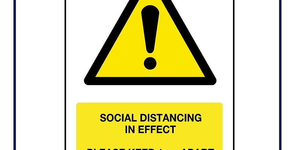 Social distancing in effect keep apart 1m+