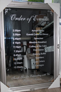 Decorative mirrors - order of service