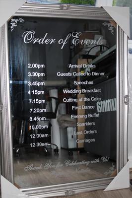 Decorative mirrors - order of service