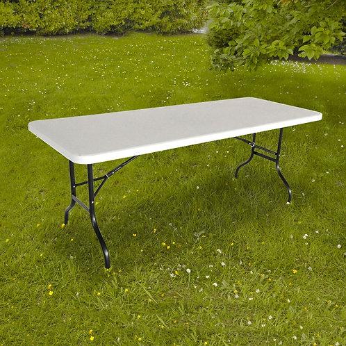 Table pliante blanche jusqu'à 8 personnes