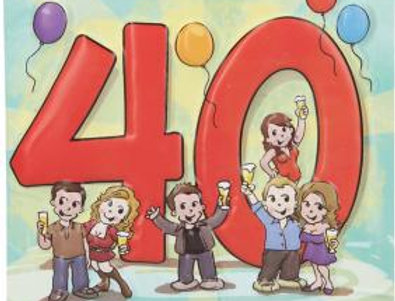 Geburtstagskarte 40