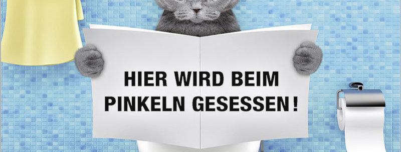 Kult-Schild mit Katze