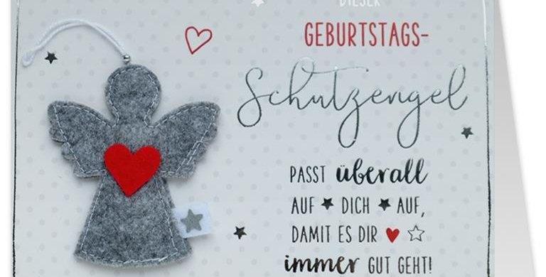Geburtstagskarte mit Schutzengel