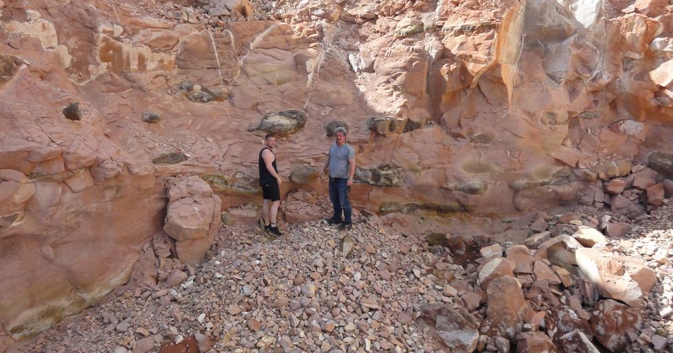 Felix und Christoph auf der Suche nach Boulderopal
